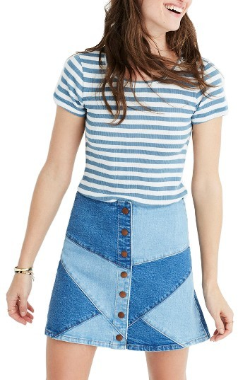 Women's Madewell Piper Linguini Stripe Tee