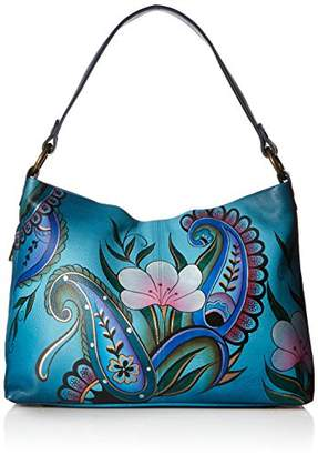 Anuschka Anna Hand Painted Leather Women'S Large Shoulder Hobo