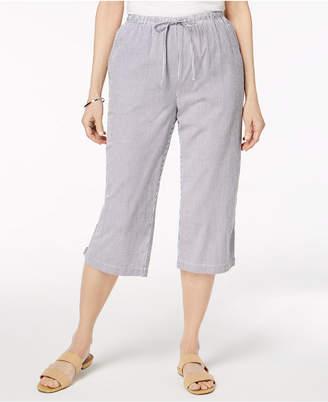 Karen Scott Cotton Seersucker Cropped Pants, Created for Macy's