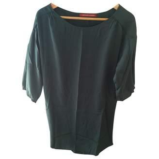 Comptoir des Cotonniers Green Silk Dress for Women