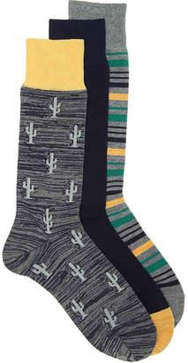 Cole Haan Cactus Crew Socks - 3 Pack - Men's