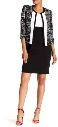 Sandra Darren Two-Tone Dress & 3/4 Sleeve Jacket Set