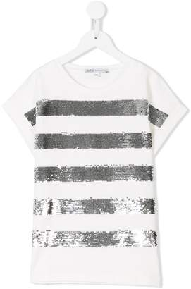 Patrizia Pepe Junior sequin embellished T-shirt