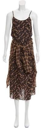 R 13 Printed Maxi Dress