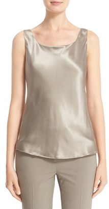 Women's Lafayette 148 New York Silk Charmeuse Tank $118 thestylecure.com