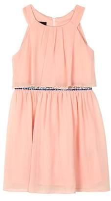 Amy Byer Popover Dress with Applique Waist (Big Girls)