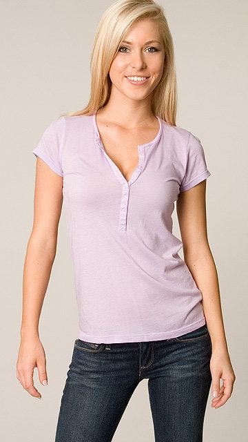 Splendid Lavender Short Sleeve Henley