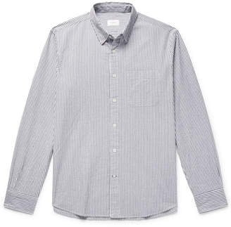 Club Monaco Slim-Fit Striped Cotton-Seersucker Shirt