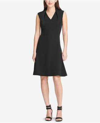 DKNY V-Neck Fit & Flare Dress. Created for Macy's