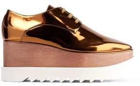Stella McCartney Elyse Mirrored Faux Leather Platform Brogues