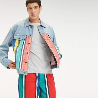 Tommy Hilfiger Stripe Print Denim Jacket