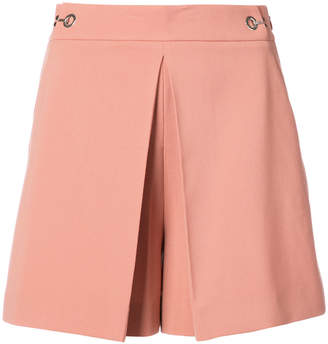 Alexander Wang High Waisted pleat front shorts