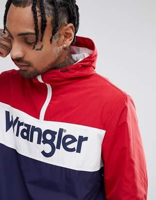 Wrangler Logo Hooded Jacket Red