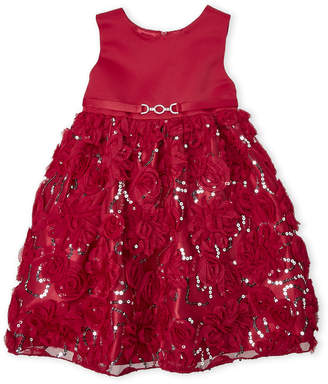 Couture Princess (Toddler Girls) Sequin Rose Tulle Dress