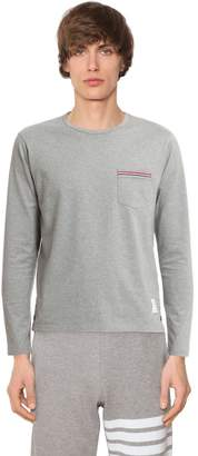 Thom Browne Cotton Jersey Long Sleeve T-shirt