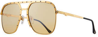 Vintage Frames Company Men's Axel Gold-Plated Aviator Sunglasses