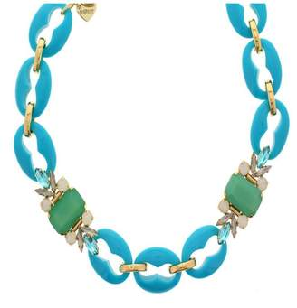 Nour London Turquoise Crystal Necklace