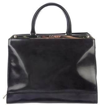 Halston Patent Leather Handle Tote