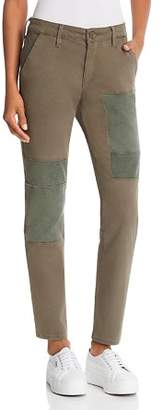 True Religion Cameron Utility Slim Boyfriend Chino Jeans in Military Green
