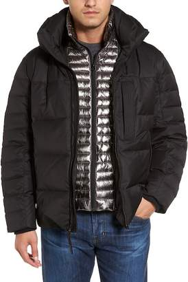 Andrew Marc Quilted Down Jacket w/ Hoodie