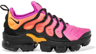 Air Vapormax Plus Faux Suede-trimmed Neoprene And Rubber Sneakers - Bright pink Nike dBS27WP