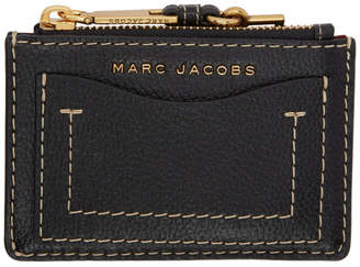 Marc Jacobs Black The Grind Zip Card Holder