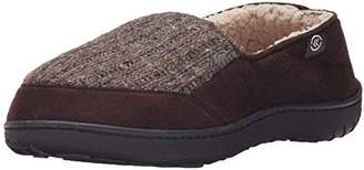 Isotoner Men's Microsuede Cbleknit W Thinsult Flat