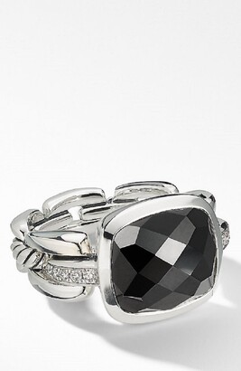 David Yurman Wellesley Link Statement Ring with Diamonds