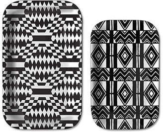 notNeutral Cooper Hewitt Black & White Tray Set