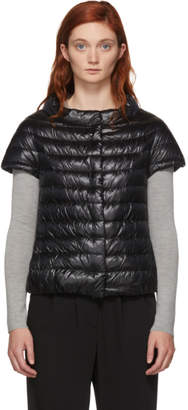 Herno Black Classic Cap Sleeve Down Jacket