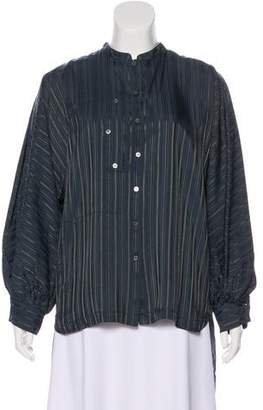 Marc by Marc Jacobs Long Sleeve Silk Top