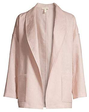 Eileen Fisher Women's Linen Shawl Collar Jacket