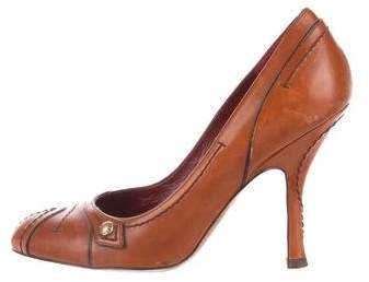 Louis Vuitton Leather Semi-Pointed Pumps