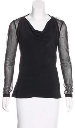 AllSaints Silk Long Sleeve Top
