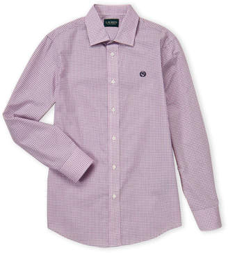 Lauren Ralph Lauren Boys 8-20) Pink Check Dress Shirt