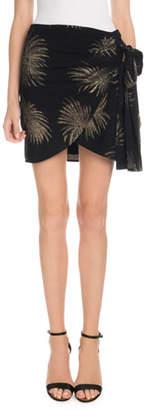 Victoria Beckham Victoria Side-Tie Metallic Fireworks-Jacquard Mini Skirt