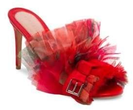 Alexander McQueen Floral High-Heel Slides