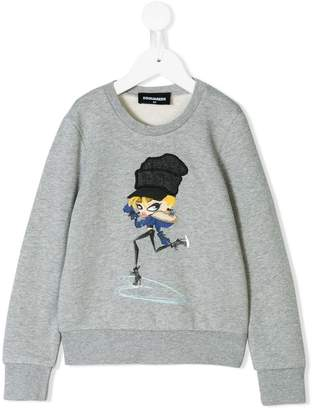 DSQUARED2 girl printed sweatshirt