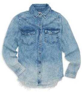 Blank NYC Girl's Denim Collared Shirt
