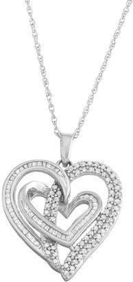 Kohl's Sterling Silver 1/2 Carat T.W. Diamond Intertwined Heart Pendant