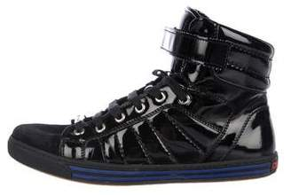 DSQUARED2 Quilted Patent Leather Sneakers