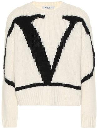 Valentino VLogo alpaca and wool blend sweater