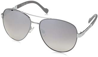 Jessica Simpson Women's J5359 Slvgy Non-Polarized Iridium Aviator Sunglasses