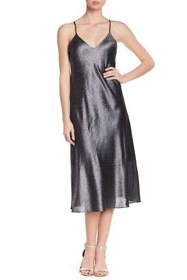 Cynthia Rowley Metallic Silk Blend Midi Dress