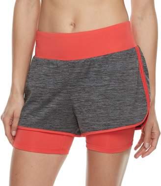 Tek Gear Women's Performance Layered Knit Shorts