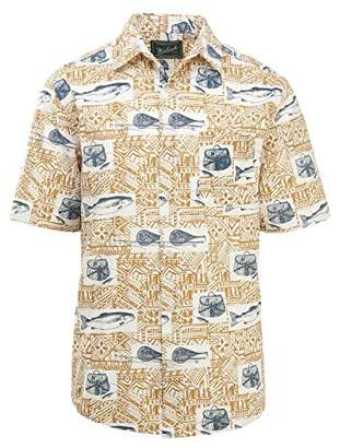Woolrich Men's Walnut Springs Printed Modern Fit Shirt