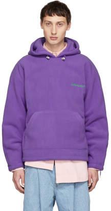 ADER error Purple Warm Hoodie