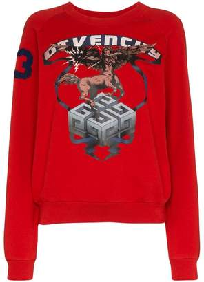 Givenchy Sagittarius Sign print cotton sweatshirt