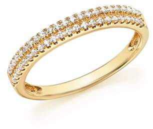 Bloomingdale's Diamond Double Row Band Ring in 14K Yellow Gold, .25 ct. t.w. - 100% Exclusive