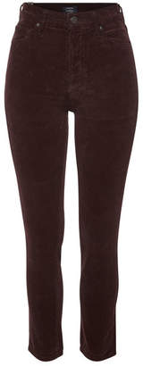 Citizens of Humanity Olivia High-Rise Slim Ankle Corduroy Jeans